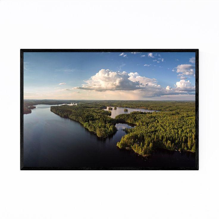 Noir Gallery Kangasniemi Finland Landscape Framed Art Print (20 x 24 – White)