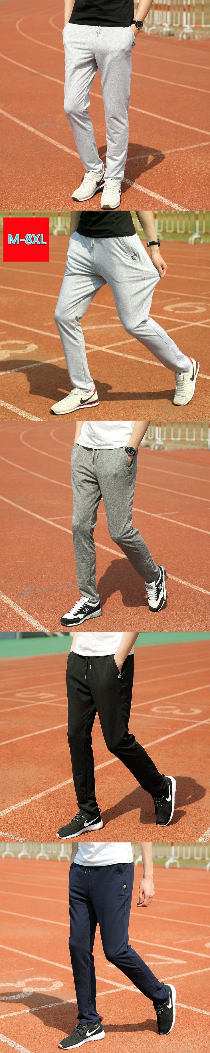 2017 Spring Fashion New Men's Workout Pants Trousers Big Size M-8XL