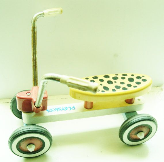 Playskool Ride-on - I had this exact Ride On with the yellow and black seat.