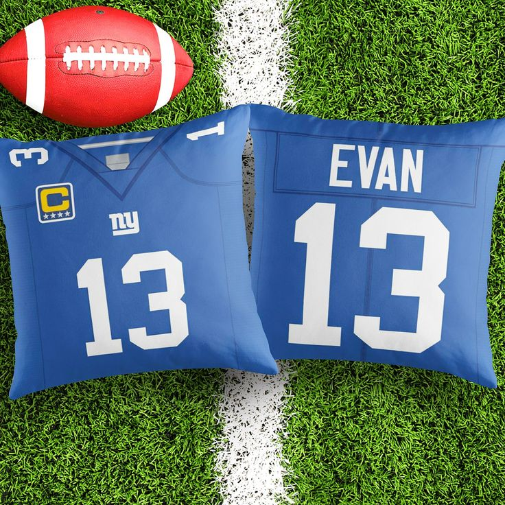 Personalised New York Giants Blue decorative Cushion Cover Fan inspired product Gift for boyfriend american football