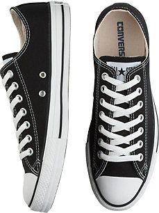 Converse Black Canvas Low-Top Tennis Shoes