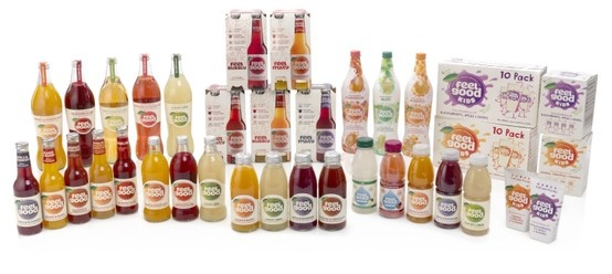The lovely Feel Good Drinks full range