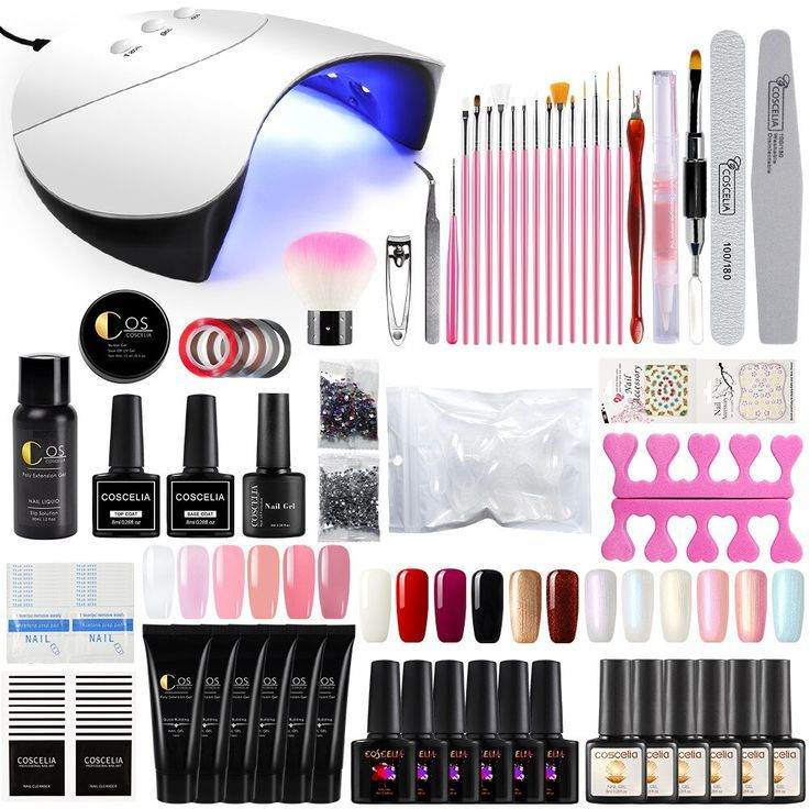 Coscelia Professional Manicure Kit 36w Led Uv Lamp Dryer Nail Art Brush Quick Building For Nails Extensions Jelly Nail Art Brushes Manicure Kit Nail Extensions