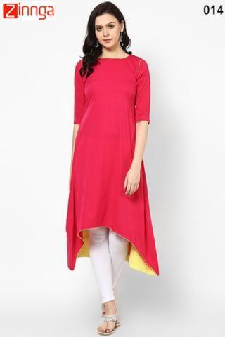 VELENTINO TREND-Pink Color Cotton Stitched Kurti - VLT 014