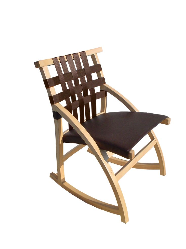 Ply Bent Frame, Seat Belt Backrest, Fabric Seat. Design By Peter Danko