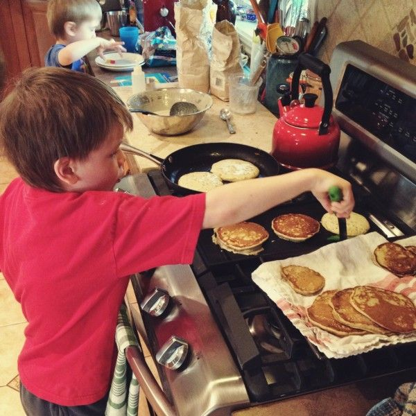 Easy Peasy Pancakes Ingredients 1 egg 1 brimming cup of buttermilk 1 t sugar 1 scant cup whole wheat flour 1 teaspoon baking soda