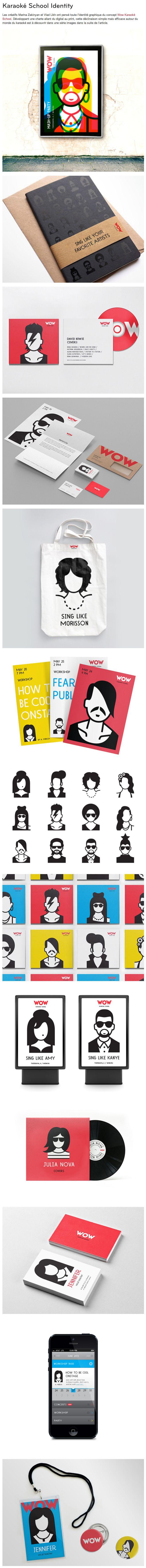 Karaoké School Identity – Fubiz™ Let's all take Karaoké lessons #identity #packaging #branding PD