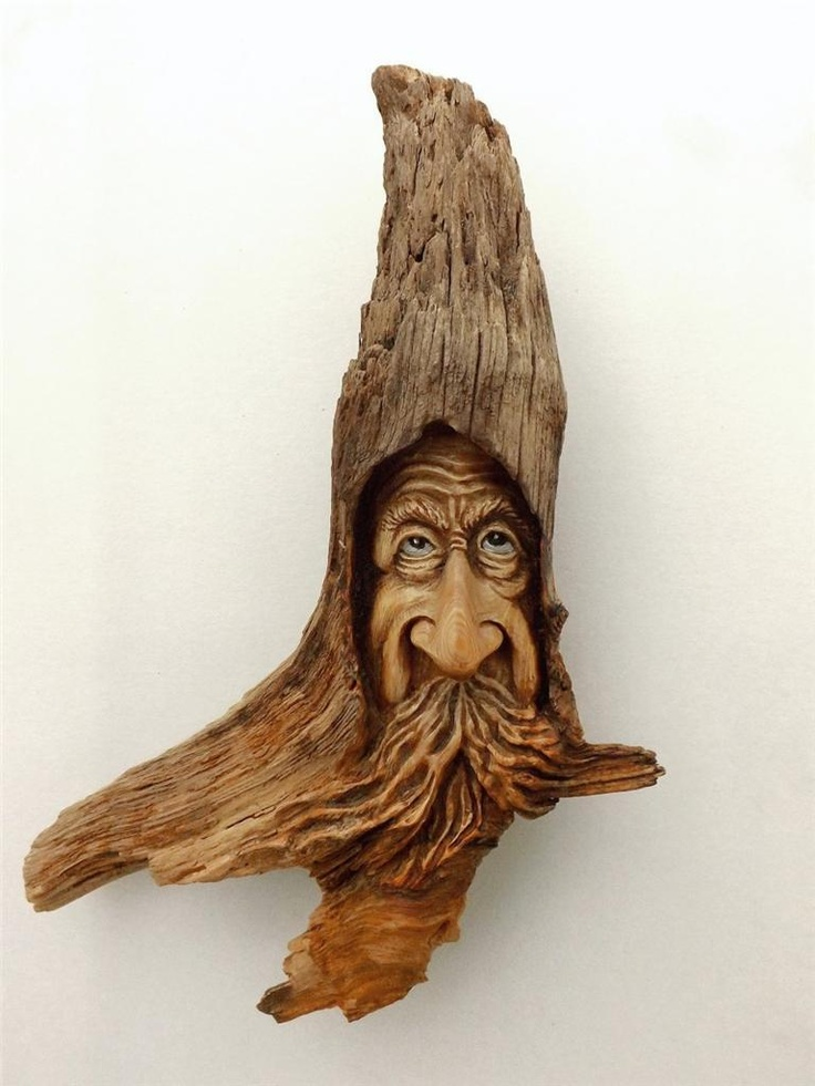 Details about wood spirit tree gnome elf carving