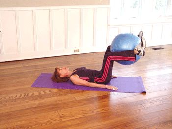 Reverse Crunch with Ball: This is a great move for your whole core: lower, middle and upper abs, plus your inner thighs! | via @SparkPeople #fitness #exercise