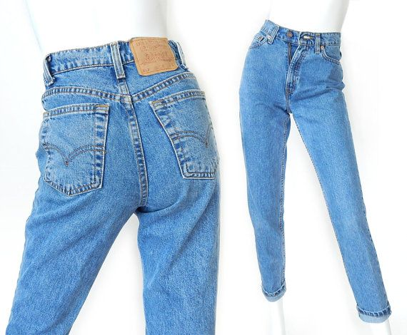 vintage 90s high waist levi 39 s 512 slim fit tapered jeans size 2 3 women 39 s stone washed high. Black Bedroom Furniture Sets. Home Design Ideas