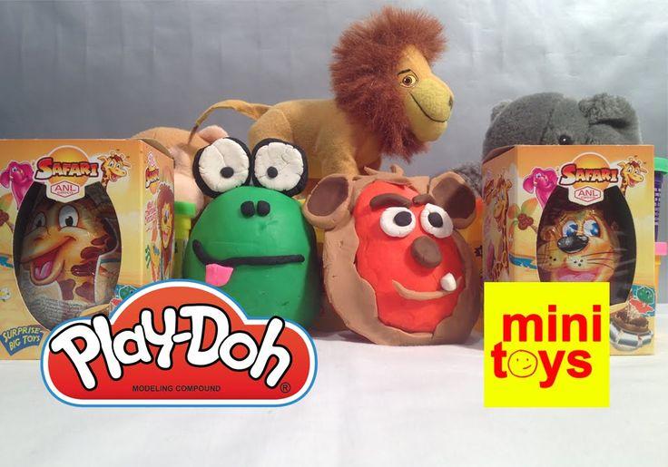 ★ Safari Animals Play Doh Surprise Eggs ★