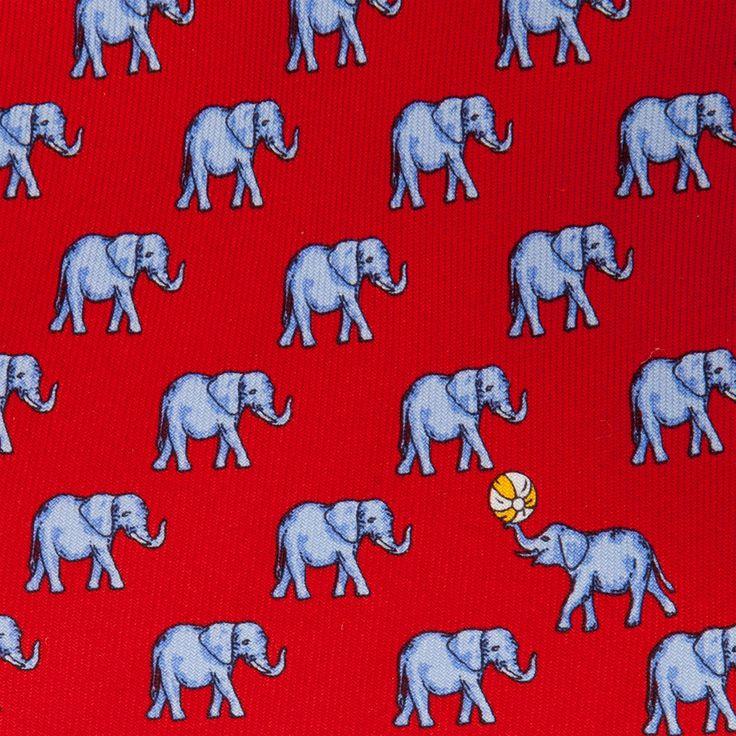 #Elephant #Ball #Silk #Printed #Tie by #ThomasPink