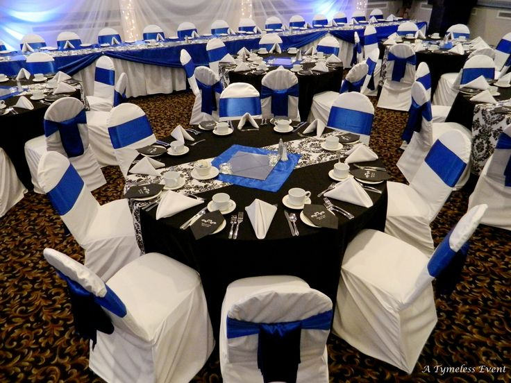 royal blue table decorations wedding black white silver royal blue wedding black tablecloths 7156