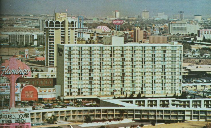 Holiday Casino stuffed in between Flamingo  Sands, mid 1970s.