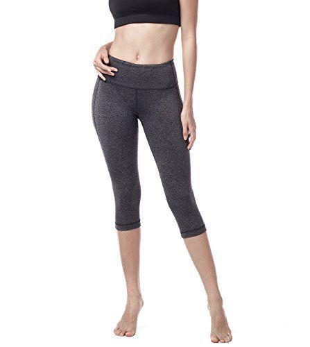 Lapasa Legging Capri Pantacourt de Sport Femme Coupe Genoux Amincissant - Yoga  Fitness Jogging Gym L02 deb0e57f9bd