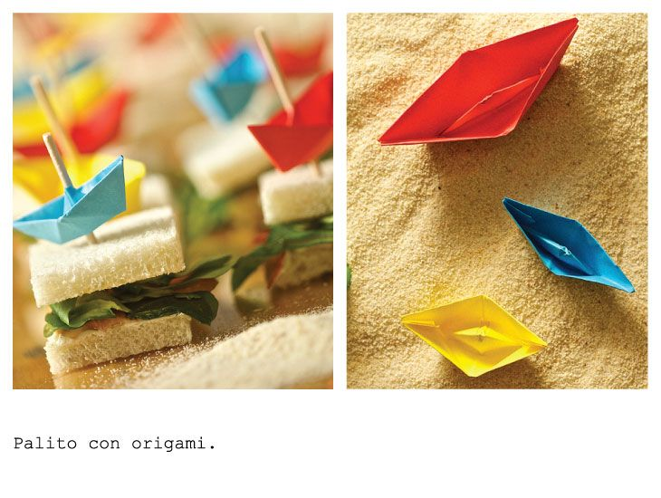 Skewers origami. By FOOD & EVENT