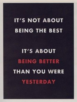 being better +++Visit http://www.quotesarelife.com/ for more quotes on #motivation and #inspiration