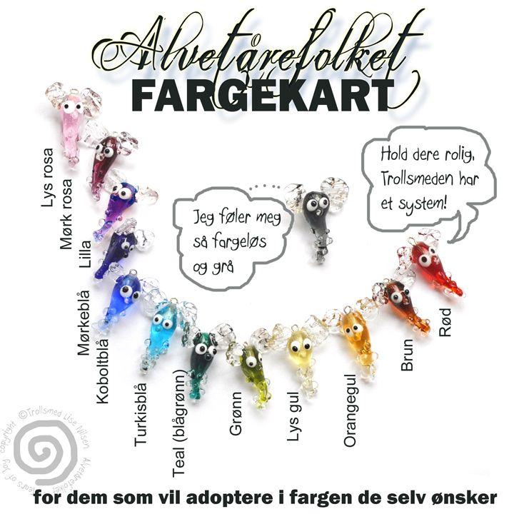 Color chart  Trollsmeds small folks.  Tears of Joy http://www.facebook.com/trollsmedsida http://www.trollsmed.com