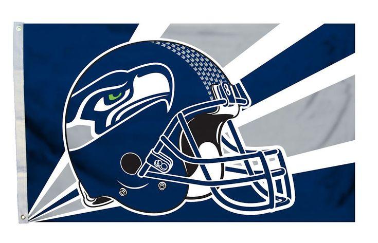 Seattle Seahawks Helmet Flag | Seattle Seahawks Football Helmet Flag