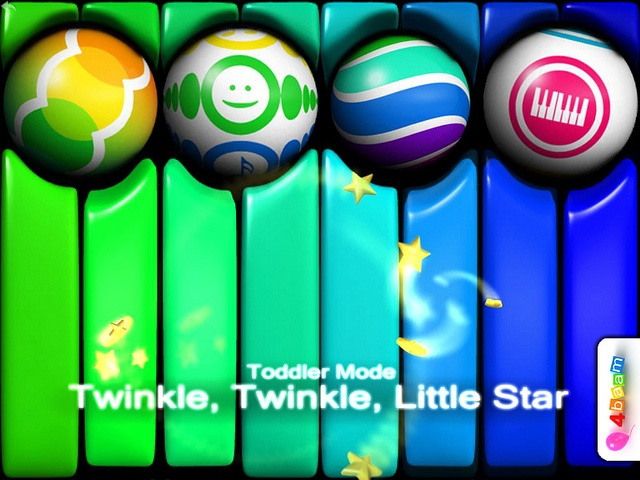 PianoBall HD - Twinkle, Twinkle, Little Star - Play with us !