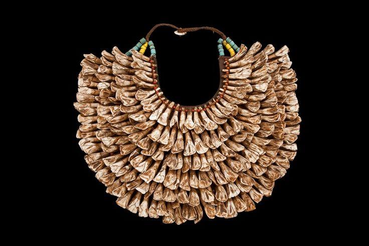 The Hobo Society / Buffalo Tooth Necklace - Burma - Mid 20th Century