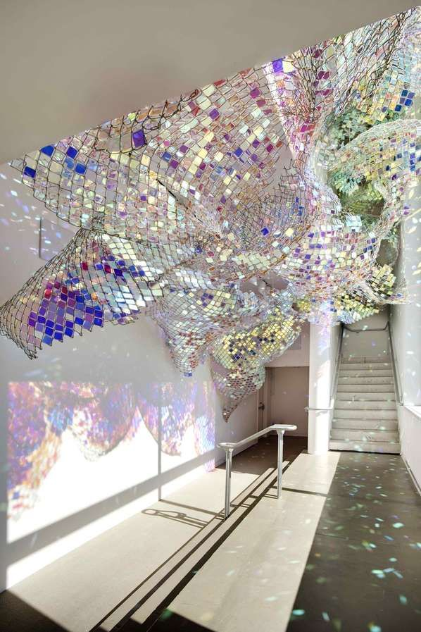 Capturing Resonance - It is always interesting to see everyday, practical objects in a new light; the Capturing Resonance installation takes classic chain link fences an...
