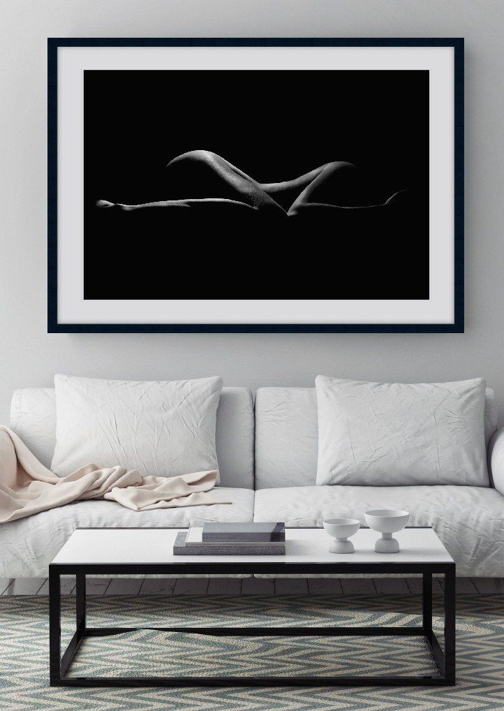 B&W FORM #1 | Artistic nude, black and white photographic fine art print