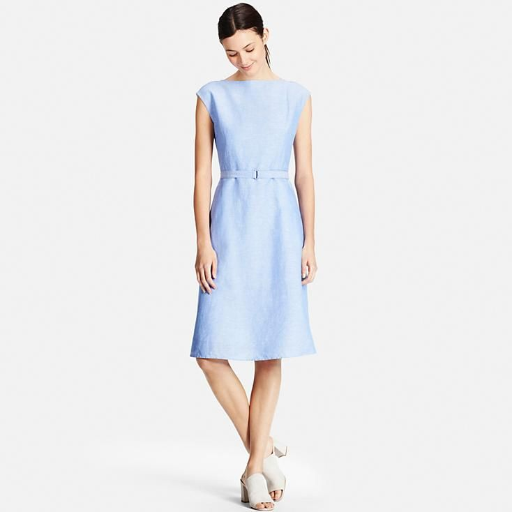 WOMEN LINEN COTTON SLEEVELESS DRESS | UNIQLO