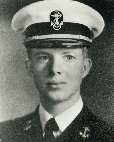 "James Earl ""Jimmy"" Carter, Jr. (born 1924) was admitted to the Naval Academy in 1943. From 1946 to 1953, he served deployments in the Atlantic & Pacific fleets. Promoted to a full lieutenant, he completed qualification for command of a diesel-electric submarine. Carter served two terms as a Georgia State Senator & one as the Governor of Georgia, from 1971 to 1975. He served as the 39th President of the U.S. from 1977 to 1981. He was awarded the 2002 Nobel Peace Prize."
