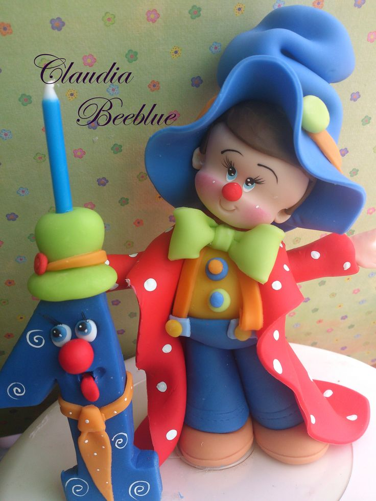 Palhaço em biscuit Claudia Beeblue
