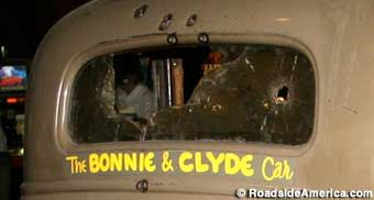 Bonnie and Clyde Car from back.