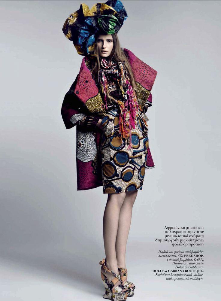 Bold Pattern Layers:  High #fashion #batik
