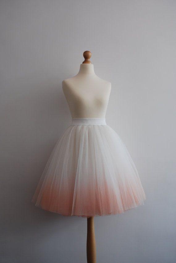 Blushing Ballerina : hand dyed ombre tulle skirt / adult tutu / ladies tulle skirt