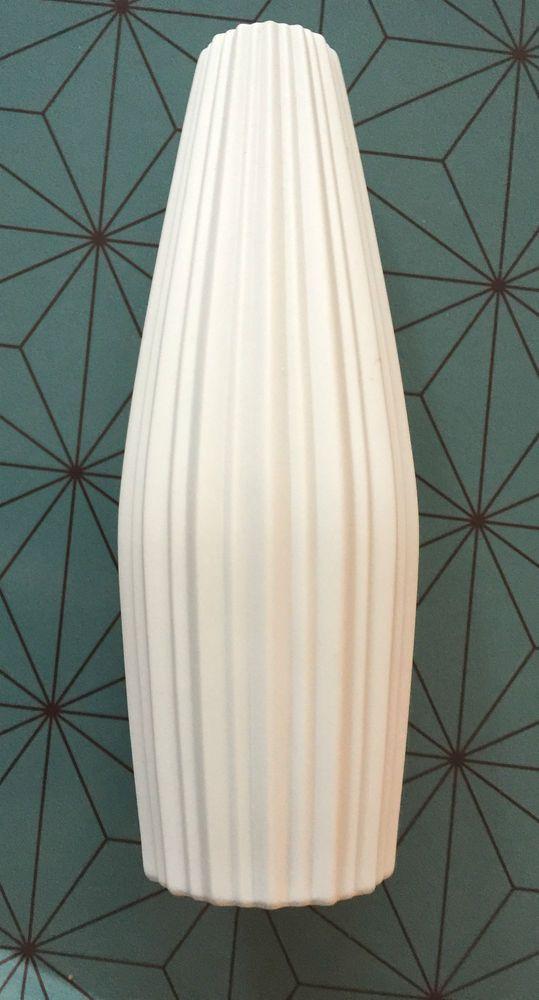 Bavaria Selb Porzellan weiss Vase Bisquit,Relief Plissee,Vaso,Design Freyer
