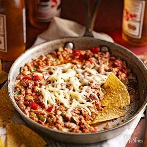 Our Frijoles Rancheros recipe is a flavorful, Mexican-inspired dish. The combination of poblano chile peppers, onion, chorizo, pinto beans, and cilantro make this bean soup a perfect addition to your dinner table today. /