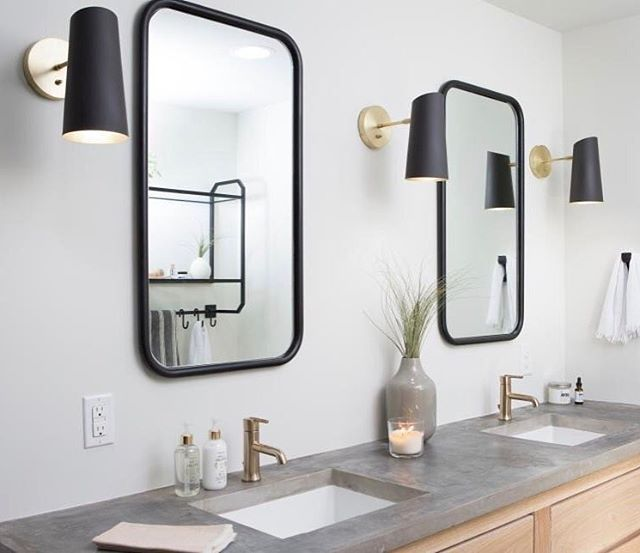 Best 25 modern sconces ideas on pinterest brandon white consort design and 3 mirror bathroom Bathroom sconce lighting ideas