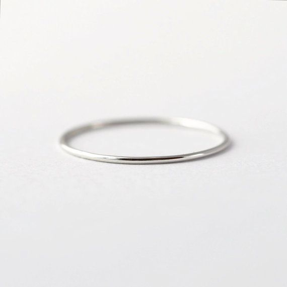 Mila Kunis Platinum Wedding Band: Thin PT950 by BlueRidgeNotions