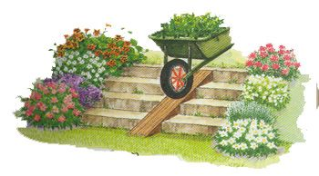 une rampe pour la brouette jardin en pente sloping garden pinterest. Black Bedroom Furniture Sets. Home Design Ideas