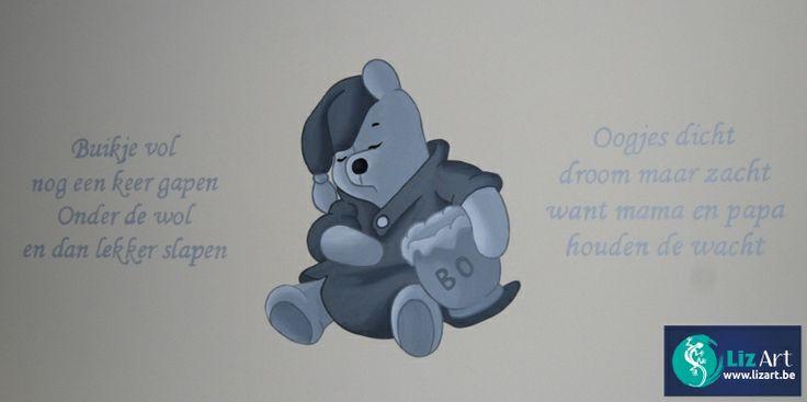 53 best images about wandschilderingen winnie de pooh figuren on pinterest wands met and - Muurschildering grijs ...