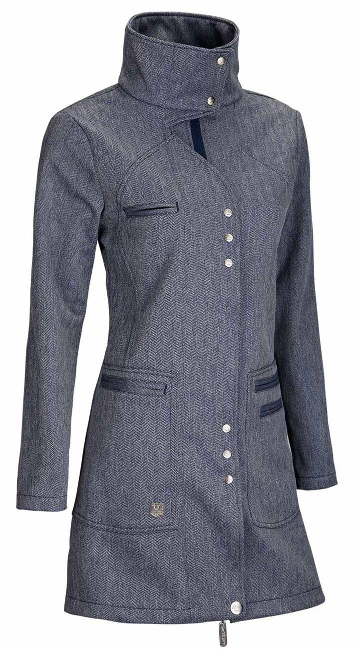 Dámský 3/4 softshellový kabát ideálně s kapucou