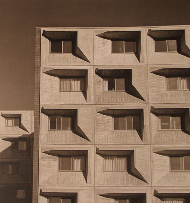 Marcel Breuer - Concrete facade -University of Massachusetts, 1967-1970.