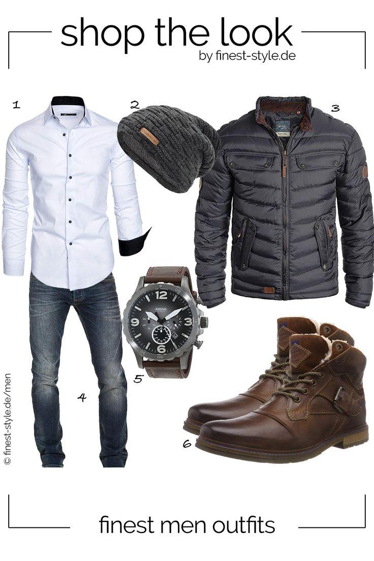 Mega cooler Look für Männer bestehend aus Teilen von Fossil, Blend, WOTEGA, urban air, Amaci&Sons und Bugatti #mode #fashion #outfits #menstyle #herrenmode #cloth #mensfashion #style #männeroutfit – ozkan tıgcı