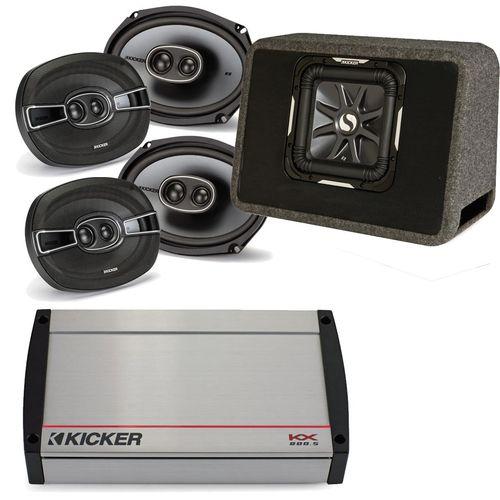 """Kicker 40KX8005 800 Watt 5-channel amplifier, two pairs of Kicker KS 6x9"""""""" speakers & a 10"""""""" Kicker L7 In Ported Enclosure"""