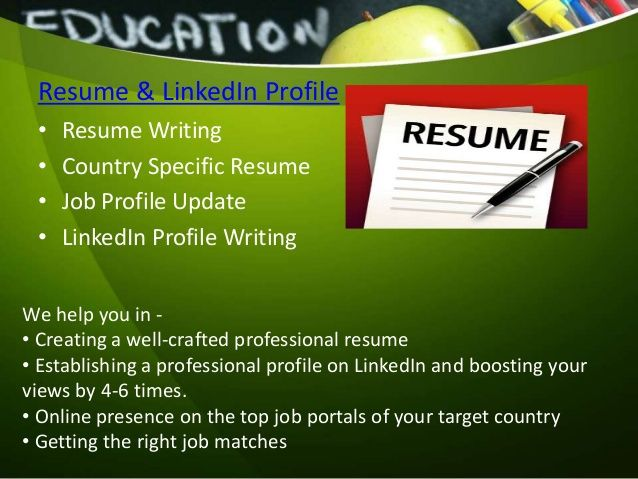 Professional profile writing services