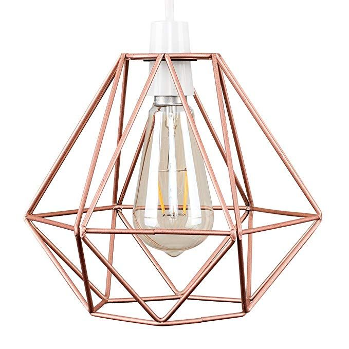 Retro Style Copper Metal Basket Cage Ceiling Pendant Light Shade Amazon Co Uk Lighting Giftrya With Images Pendant Light Shades Ceiling Pendant Ceiling Pendant Lights
