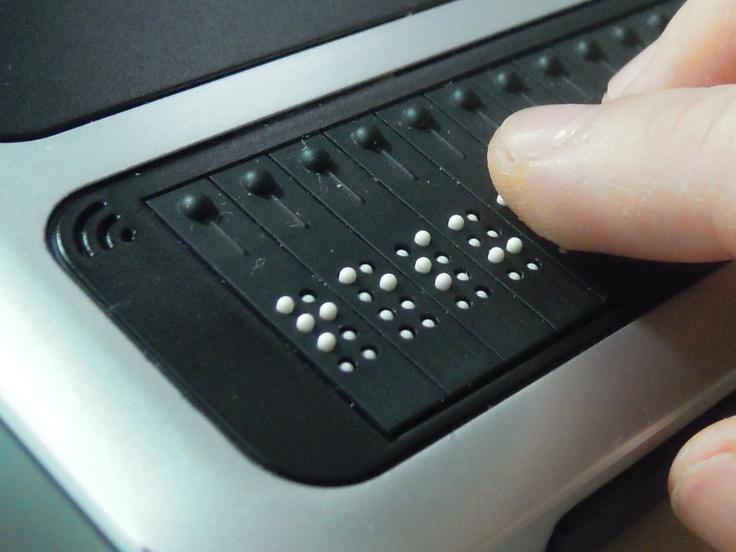 Braille Display Technology Blind Pinterest