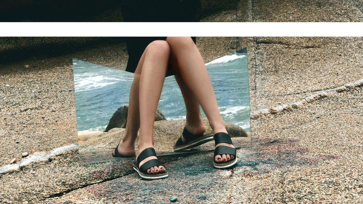 BLACK slides. Made in Greece.  #myrsini  find them here: www.esiot.gr