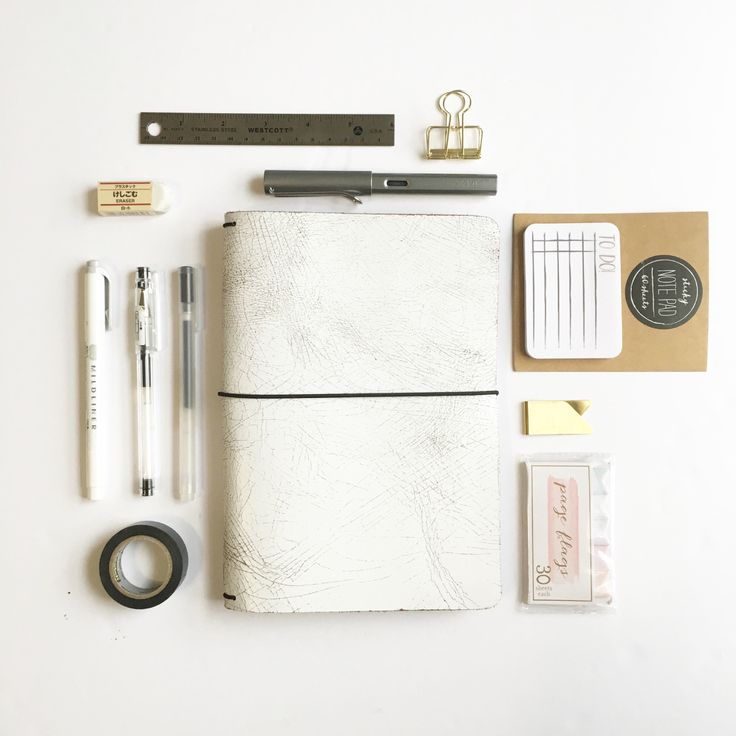 """the-meta-archive: """" my essential supplies for my midori for school & my bullet journal! """""""