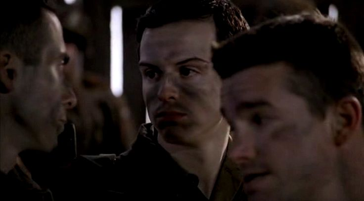 Suffering #Sherlock withdrawal, so I'm watching Band Of Brothers, and up pops a *very* young Andrew Scott (Moriarty) in a minor role. Amazing what you spot !