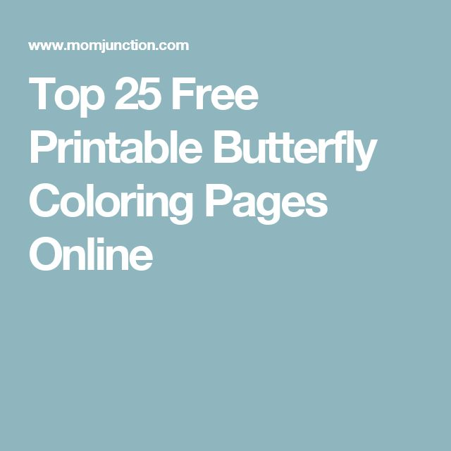 41 best Coloring pages images on Pinterest Coloring books - best of butterfly coloring pages momjunction